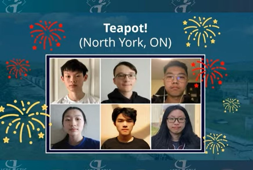 TEAM Teapot from North York, Ontario, wins CyberTitan IV National Finals on May 19, 2021